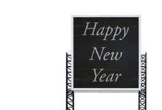 Guten Rutsch ins Neue Jahr auf großem Zeichenbrett Stockbild