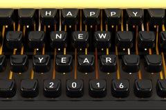 Guten Rutsch ins Neue Jahr 2016 auf Schreibmaschine stockbilder