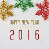 Guten Rutsch ins Neue Jahr 2016 auf weißem Hintergrund Stockfotos