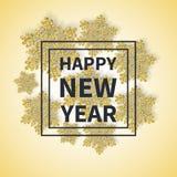 Guten Rutsch ins Neue Jahr-Aufschrift im quadratischen Rahmen-Text Lizenzfreie Stockfotos