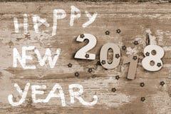 Guten Rutsch ins Neue Jahr 2018 beautuful Feiertag decoratuon Hintergrund Lizenzfreie Stockfotos