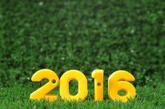 Guten Rutsch ins Neue Jahr 2016, bunte Zahlidee Lizenzfreie Stockfotografie