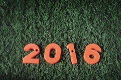 Guten Rutsch ins Neue Jahr 2016, bunte Zahlidee Lizenzfreie Stockbilder