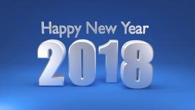 Guten Rutsch ins Neue Jahr 2018, 3D übertragen Lizenzfreie Stockfotos