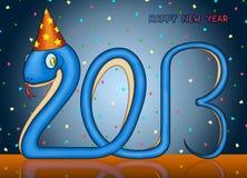 Guten Rutsch ins Neue Jahr der kleinen Schlange 2013 Stockfotos