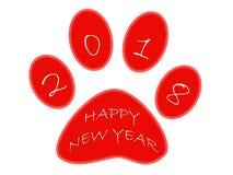 Guten Rutsch ins Neue Jahr 2018, Jahr des Hundes lizenzfreie abbildung