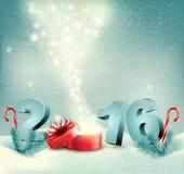 Guten Rutsch ins Neue Jahr 2016! Designschablone des neuen Jahres Lizenzfreies Stockbild