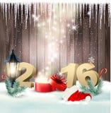 Guten Rutsch ins Neue Jahr 2016! Designschablone des neuen Jahres Lizenzfreie Stockfotos