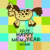 Guten Rutsch ins Neue Jahr eines Pferds 2014 Lizenzfreie Stockbilder