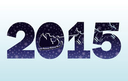2015-guten Rutsch ins Neue Jahr-Einladungskarte Stockbilder