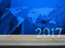 Guten Rutsch ins Neue Jahr 2017, Elemente dieses Bildes geliefert von der NASA Stockfotos