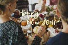 Guten Rutsch ins Neue Jahr-Feier-Gruß-Konzept 2017 Stockfotos