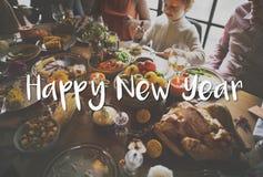 Guten Rutsch ins Neue Jahr-Feier-Gruß-Konzept 2017 Stockfoto