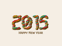 Guten Rutsch ins Neue Jahr-Feier 2015 mit stilvollem Text Lizenzfreie Stockfotos