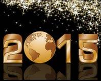 2015-guten Rutsch ins Neue Jahr-Feierfahne Stockfotografie
