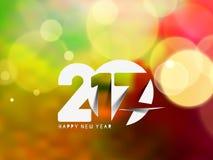 Guten Rutsch ins Neue Jahr 2017 Feiertags-Beleuchtungshintergrund lizenzfreie abbildung