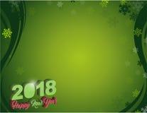 Guten Rutsch ins Neue Jahr 2018-Feiertags-Green Card stock abbildung