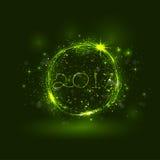 Guten Rutsch ins Neue Jahr 2017-Feiertags-Hintergrund 2017 guten Rutsch ins Neue Jahr grüßen Lizenzfreie Stockfotos