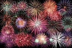 Guten Rutsch ins Neue Jahr-Feuerwerk lizenzfreies stockfoto