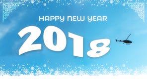 2018-guten Rutsch ins Neue Jahr-Flagge Stockbilder