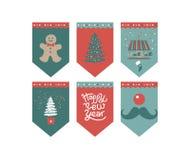 Guten Rutsch ins Neue Jahr-Flaggen entwerfen stockbild