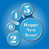 Guten Rutsch ins Neue Jahr 2015 - geschaffen als infographics Stockfotografie