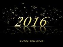 Guten Rutsch ins Neue Jahr glod Feierhintergrund 2016 Stock Abbildung
