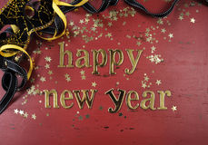 Guten Rutsch ins Neue Jahr-Goldbuchstaben Stockfotos