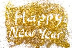 Guten Rutsch ins Neue Jahr golde Stockfotografie
