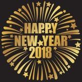 Guten Rutsch ins Neue Jahr 2018 golden Stockfotos