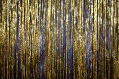 Guten Rutsch ins Neue Jahr-Goldhintergrundlametta 2017 Stockbilder
