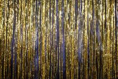Guten Rutsch ins Neue Jahr-Goldhintergrundlametta 2017 Stockbild