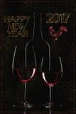 Guten Rutsch ins Neue Jahr-Grüße Stockbilder