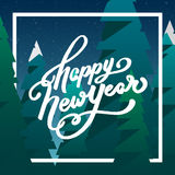 Guten Rutsch ins Neue Jahr-Gruß-Karte mit Beschriftung Lizenzfreie Abbildung