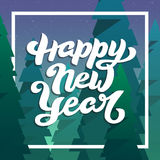 Guten Rutsch ins Neue Jahr-Gruß-Karte mit Beschriftung Lizenzfreies Stockfoto