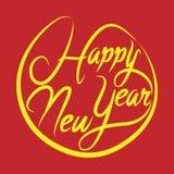 Guten Rutsch ins Neue Jahr, Gruß-Kartendesign beschriftend Auch im corel abgehobenen Betrag Stockbild