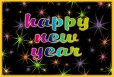 Guten Rutsch ins Neue Jahr-Grußkarte stockbild