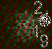 Guten Rutsch ins Neue Jahr-Grußkarte 2019 stockfoto
