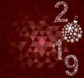 Guten Rutsch ins Neue Jahr-Grußkarte 2019 lizenzfreies stockfoto