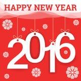 Guten Rutsch ins Neue Jahr-Grußkarte 2016 Stockbild