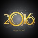 Guten Rutsch ins Neue Jahr-Grußkarte 2016 Lizenzfreie Stockbilder