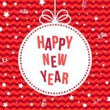 Guten Rutsch ins Neue Jahr-Grußkarte Stockfotografie