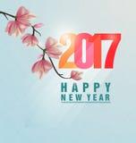 Guten Rutsch ins Neue Jahr-Grußkarte 2017 Lizenzfreies Stockfoto