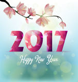 Guten Rutsch ins Neue Jahr-Grußkarte 2017 Lizenzfreies Stockbild