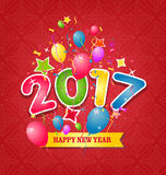 Guten Rutsch ins Neue Jahr-Grußkarte 2017 Stockbilder