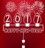 Guten Rutsch ins Neue Jahr-Grußkarte 2017 Lizenzfreie Stockbilder