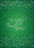 Guten Rutsch ins Neue Jahr-Grußkarte Stockfoto