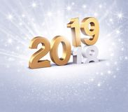 Guten Rutsch ins Neue Jahr-Grußkarte 2019 für Erfolg stock abbildung
