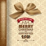 Guten Rutsch ins Neue Jahr-2018 Grußkarte, frohe Weihnachten Stockbild