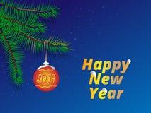 guten Rutsch ins Neue Jahr-Grußkarte/Hintergrund Stock Abbildung